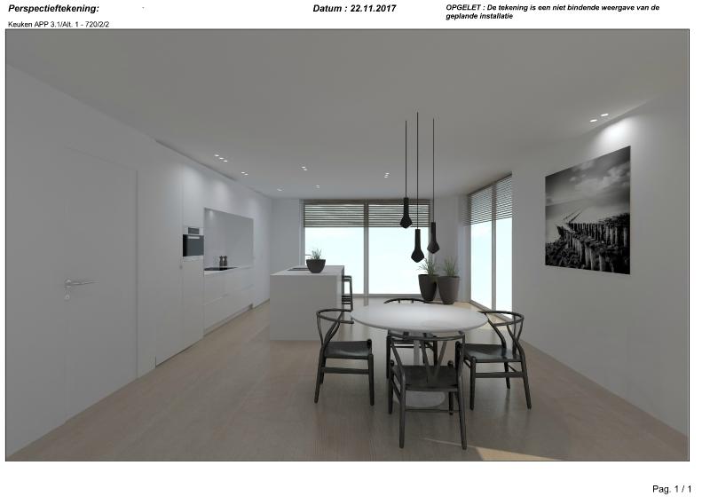 Exclusief nieuwbouw tweeslaapkamer appartement op unieke ligging te Brugge. -  - NVB096app2,2