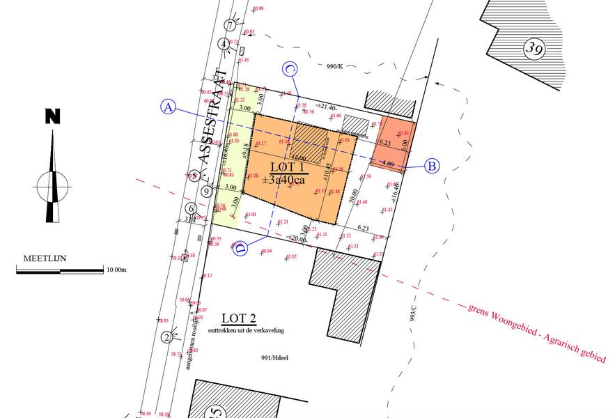 Perceel van +/- 340m² voor open bebouwing te Herzele