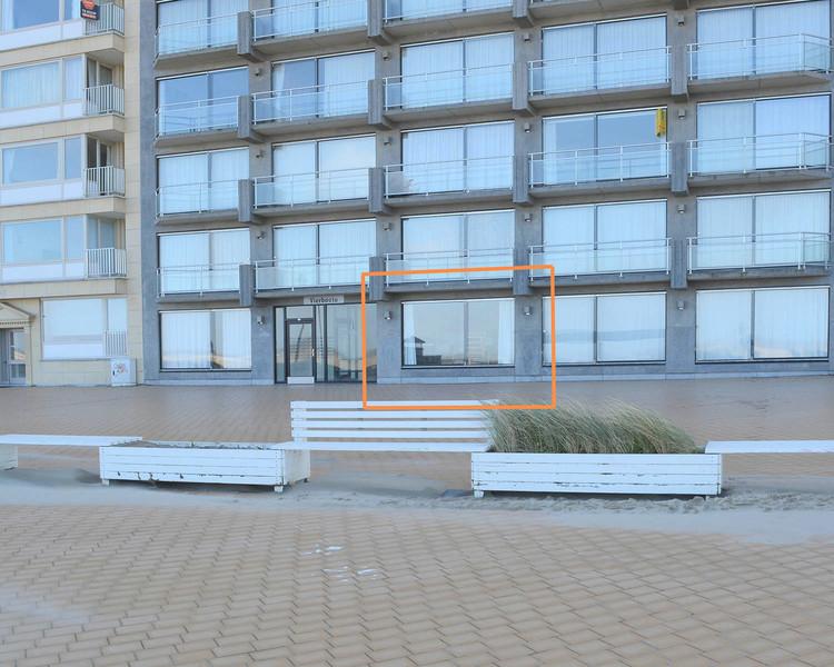 Gelijkvloers appartement op zeedijk te Nieuwpoort