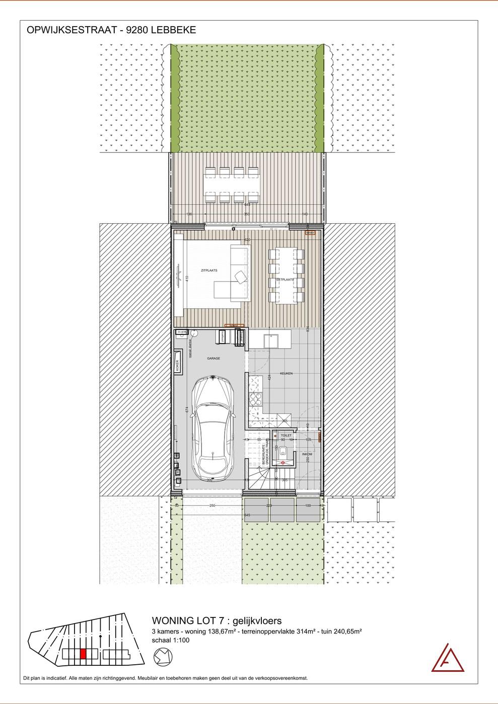 Investering nieuwbouw 3 slaapkamer woning met garage en tuin te Lebbeke!